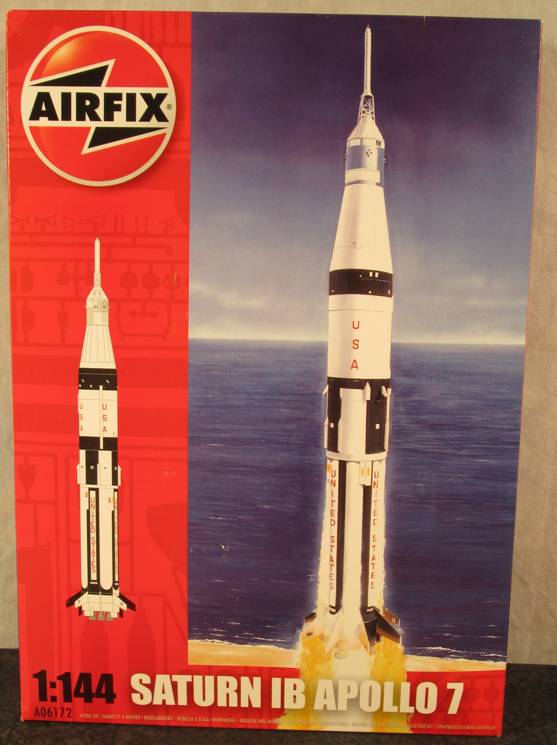 Airfix Nasa 1 144 Scale Saturn 1b Apollo 7 Rocket Afx 6172