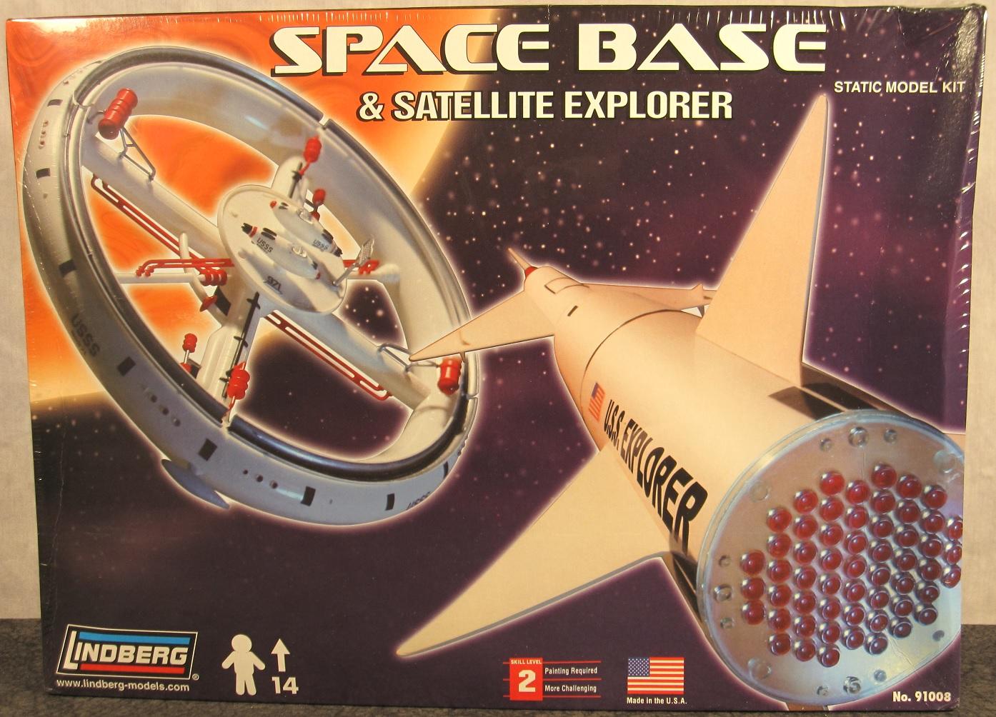 Von Braun 1:200 Scale Space Base and Satellite Explorer
