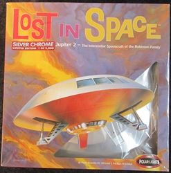 Lost  in Space Limited Edition Chrome 1:60 Scale Jupiter 2 Plastic Model Kit