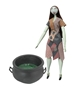 Nightmare Before Christmas 25th Anniversary Sally with Cauldron Coffin Doll Pack