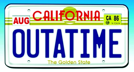"Back To The Future ""Outatime"" License Plate Prop Replica"