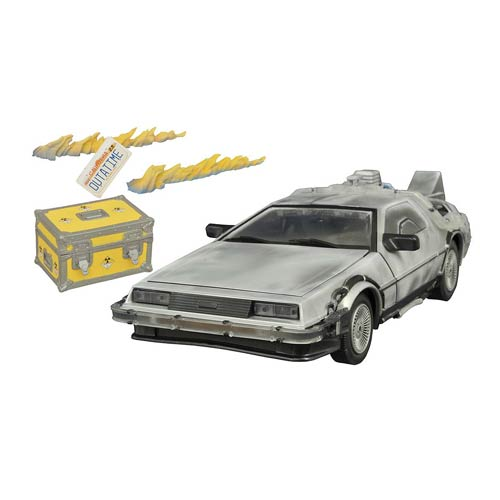 Back To The Future Iced DeLorean Collectors Set Light-up Vehicle