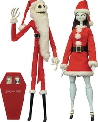 Nightmare Before Christmas Santa Jack and Sally Coffin 2-Pack