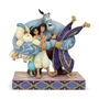 "Disney Traditions Aladdin Genie ""Group Hug"" Statue"