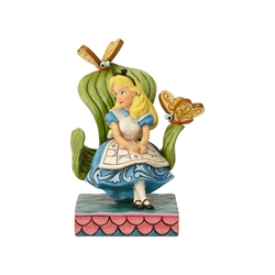 "Disney Traditions Jim Shores Alice in Wonderland ""Curiouser and Curiouser"" Statue"