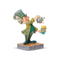 "Disney Traditions Jim Shores Alice in Wonderland Mad Hatter ""A Spot of Tea"" Statue"