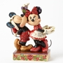 Disney Jim Shore Mickey Minnie Under The Mistletoe Figure