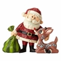 Rudolph Traditions Rudolph and Santa Personality Pose Statue