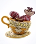 Disney Traditions Cheshire Cat Mad Tea Party Figure