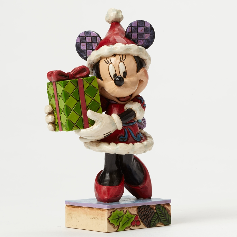 disney traditions jim shore christmas minnie figure ens 4046015