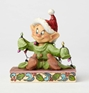 Disney Traditions Snow White Dopey w/ Christmas Lights Statue