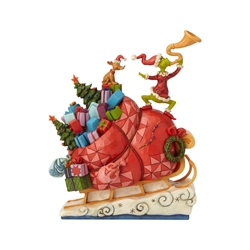 Jim Shore How The Grinch Stole Christmas Sleigh Statue