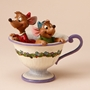 "Disney Traditions Jim Shore Gus & Jaq ""Tea For Two"" Figure"