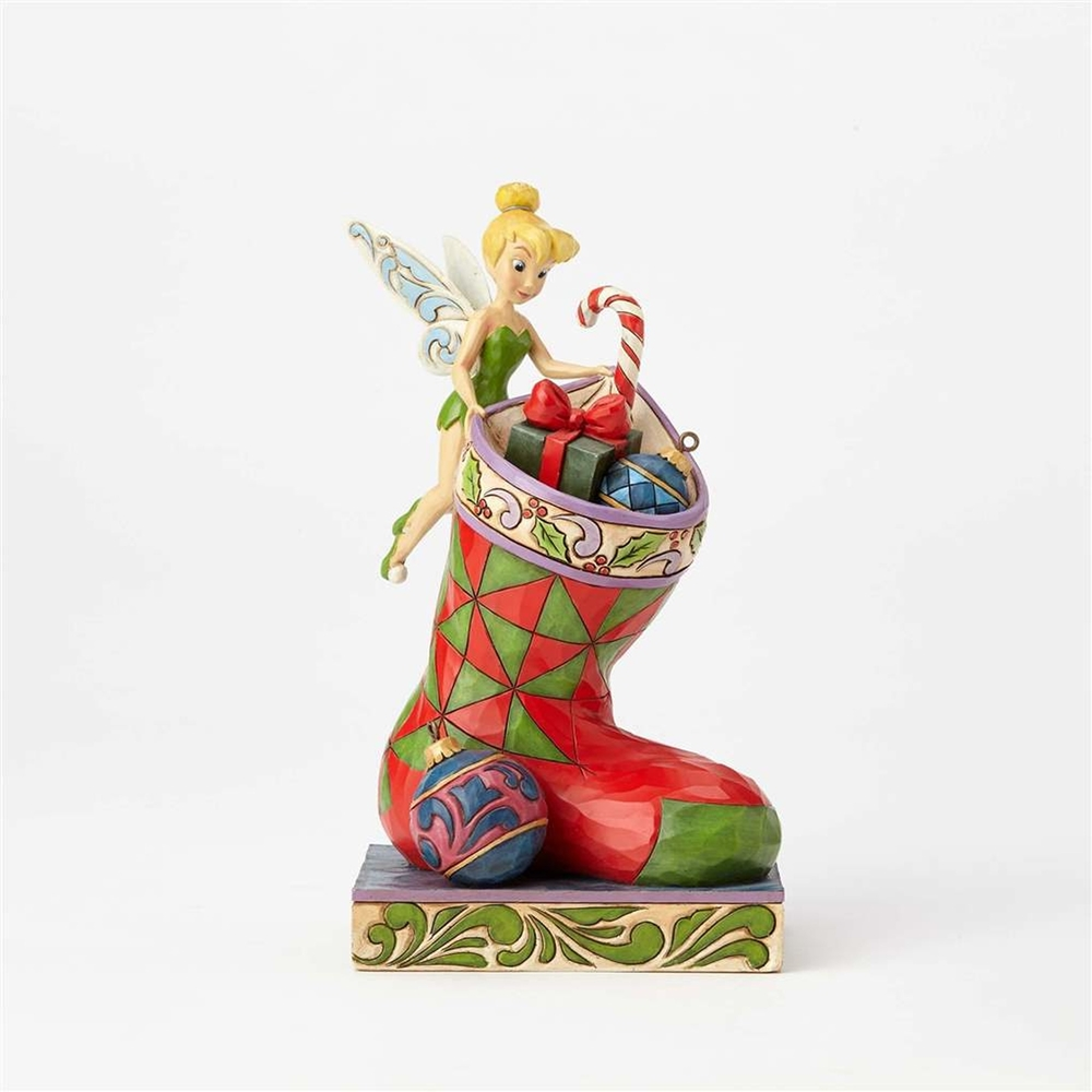 Enesco - Disney Traditions Christmas Tinkerbell w/Stocking Figure ...