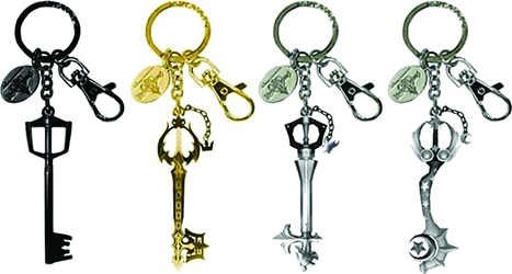 SDCC 2016 Exclusive Kingdom Hearts Pewter Keyring Set