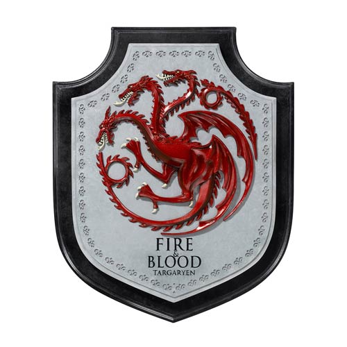 Game of Thrones Targaryen Dragon House Wall Crest Plaque