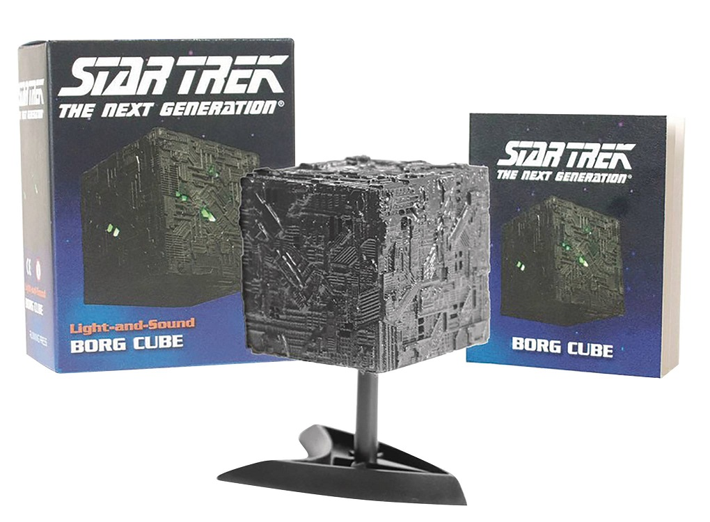 running press star trek tng light up borg cube replica with sound