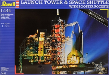 NASA Limited Edition 1:144 scale Launch Tower & Space Shuttle with Booster Rockets