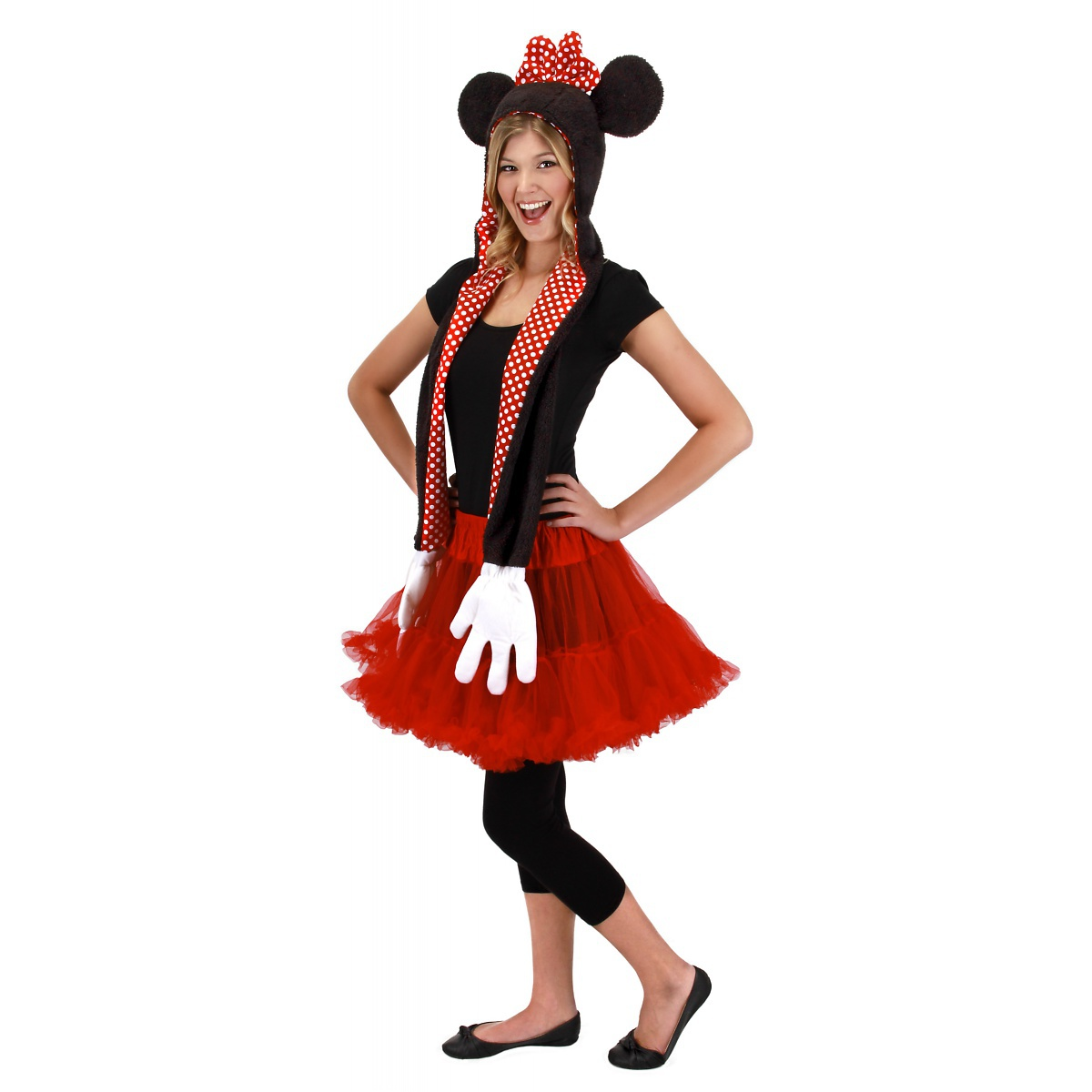 7e00b1f25ca77 Elope - Minnie Mouse Laplander Hat with Gloves Scarf  ELP-250082